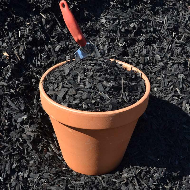 Colored Mulch black