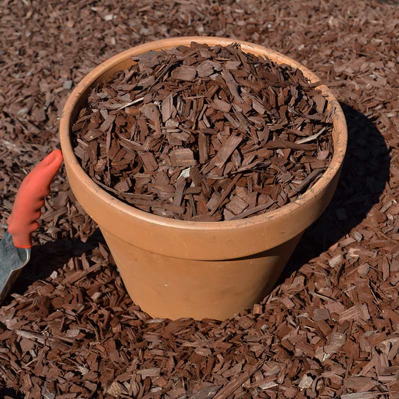 Colored Mulch mahogany
